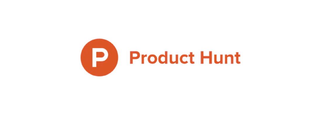 Image contains the product hunt logo