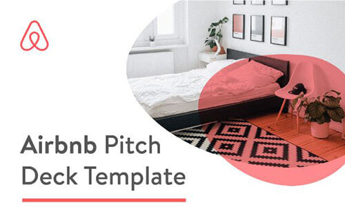 Airbnb Pitch deck template slide example.