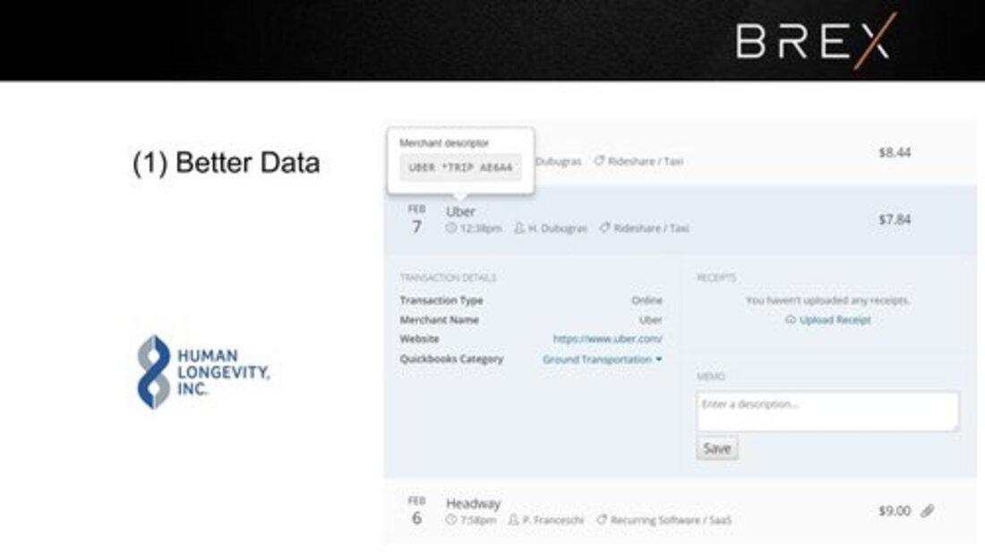 Image contains brex better data slide