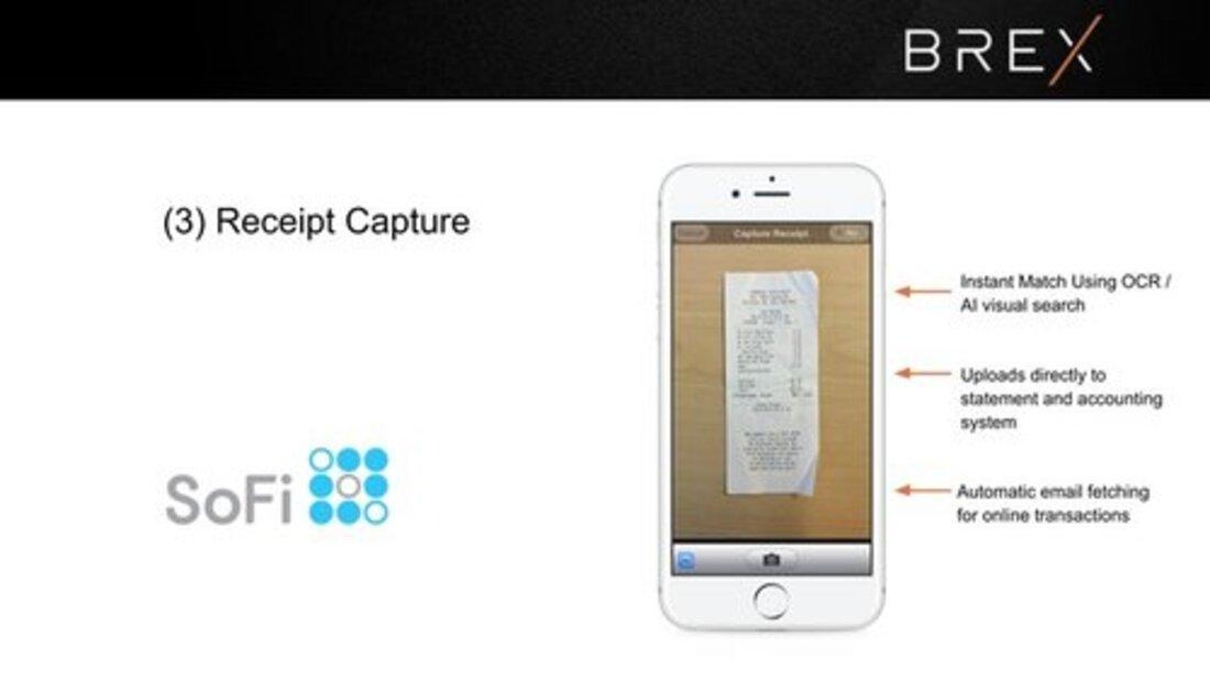 Image contains brex receipt capture slide