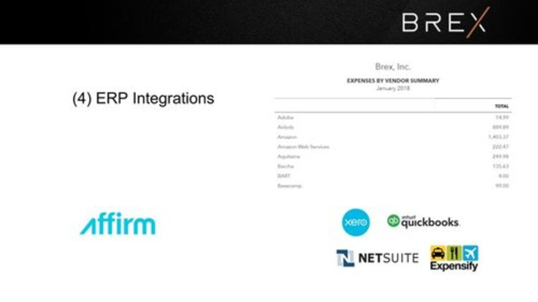 Image contains brex ERP integrations slide