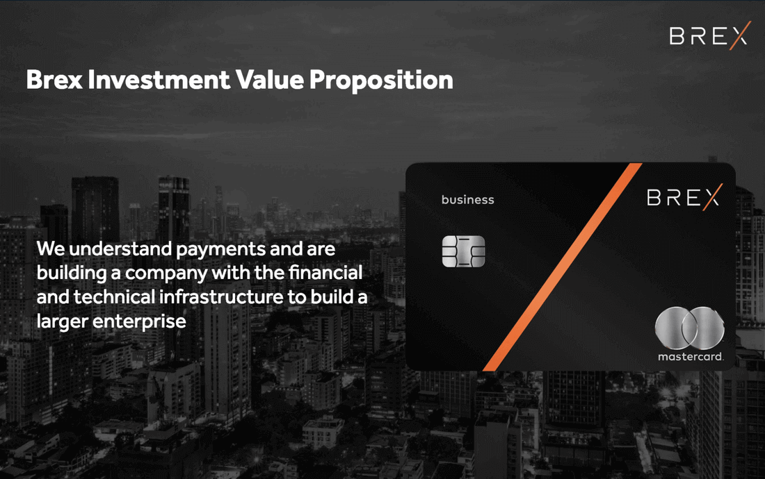 Image reads, brex investment value proposition