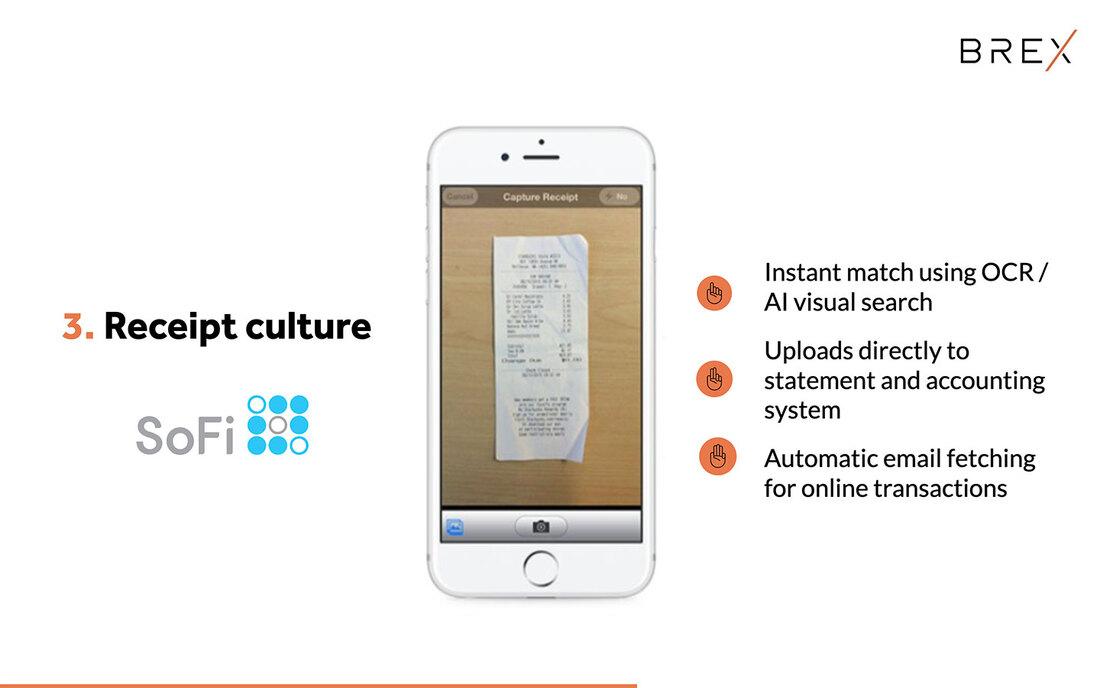 Image contains brex receipt culture slide