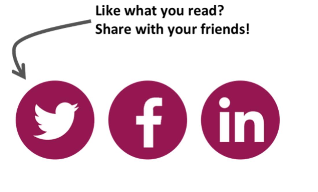 Image contains three social media logos