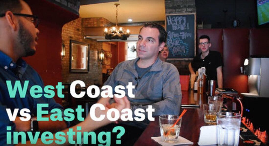 Image reads west coast vs east coast investing?
