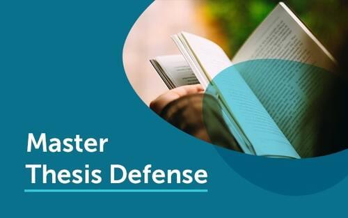 Masters thesis defense presentation cover slide