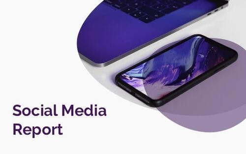 Social media report template example