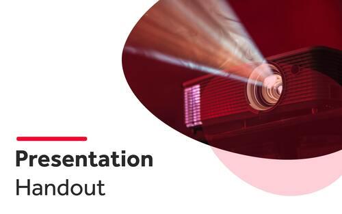 Presentation Handout Template cover