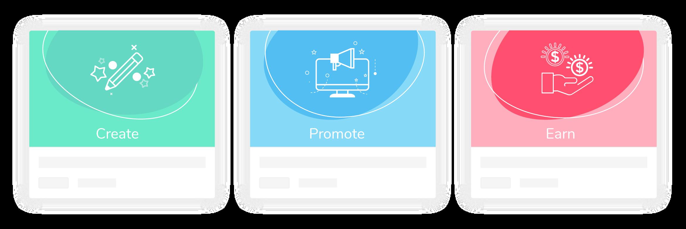 Create, Promote, Earn