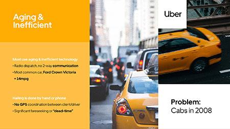 Presentation design services, Uber pitch deck