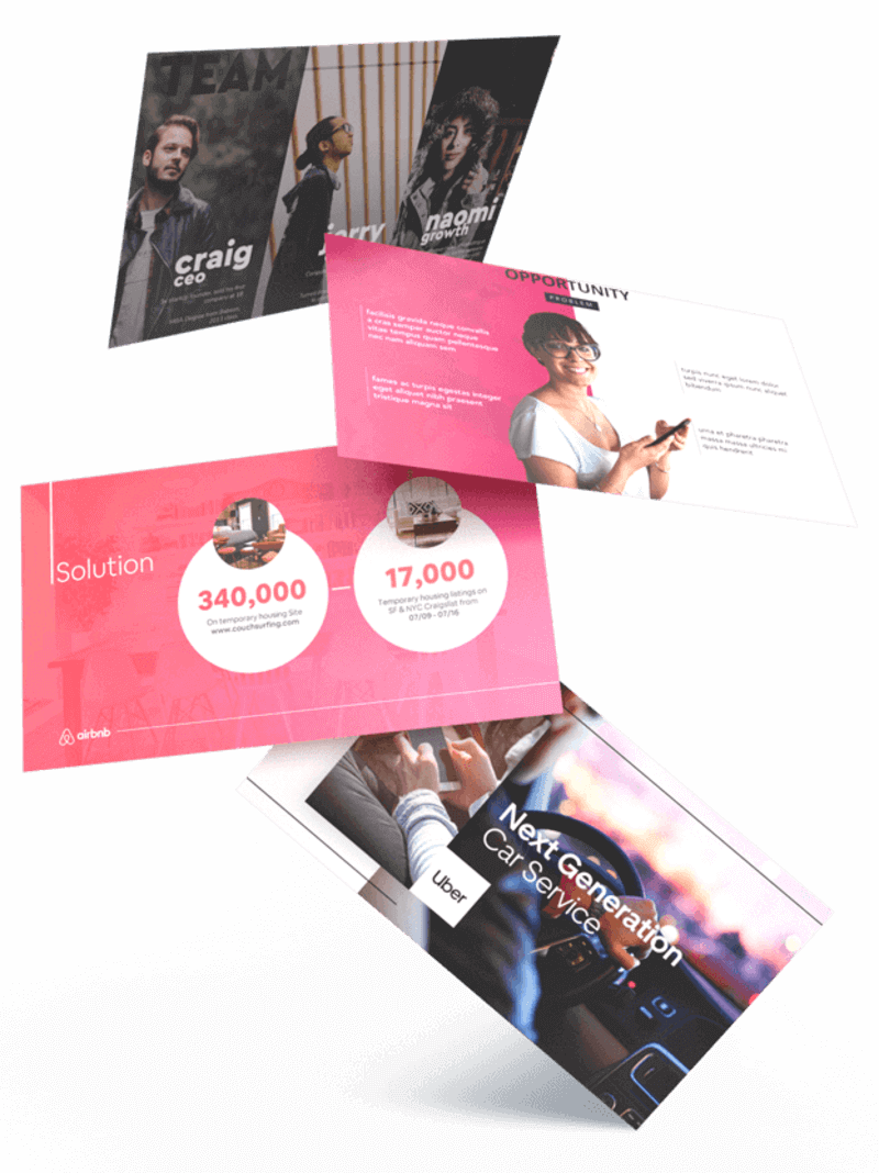 pitch deck design examples