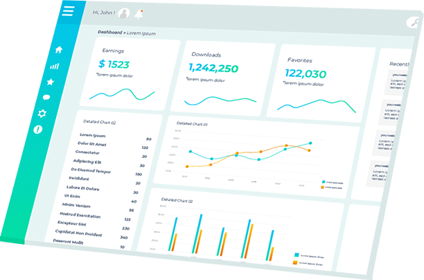 financial model template dashboard example