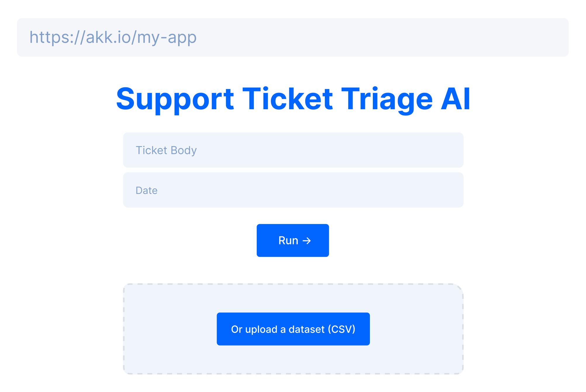 akkio support ticket triage