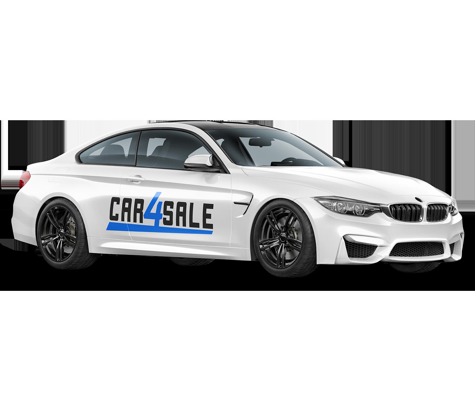 Bil med car4sale logo