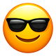 Emoji - Smiling face with sunshades