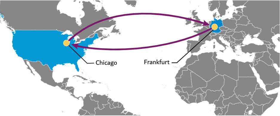 Blue World Atlantic Map