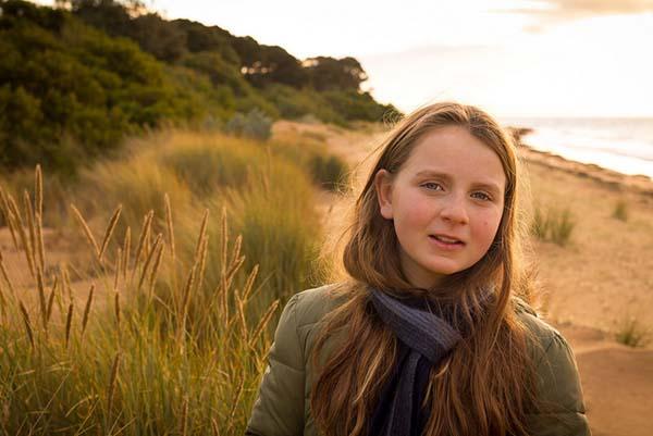 Girl at the coast