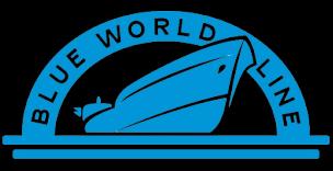 Blue world line logo