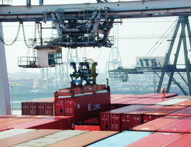 Lifting shipping containers