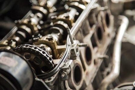 Inside of a motor.