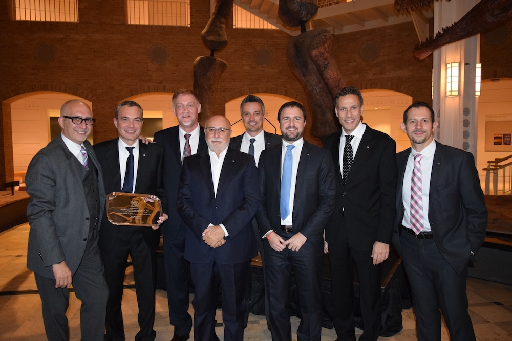 Pictured (left to right): Sergio Chiccoli - RVP, Southeast ; Adrian Emmenegger - President & CEO, JAS | USA ; Thomas Neuert - RVP, West ; Biagio Bruni - Founder and Chairman of JAS WW ; Patrik Gaehwiler - RVP, Midwest ; Alberto Bruni - RVP, Northeast ; Eugenio Fumo - COO JAS | USA ; Tony Romano - RVP, Southwest