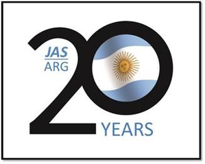 JAS Argentina 20 years Logo