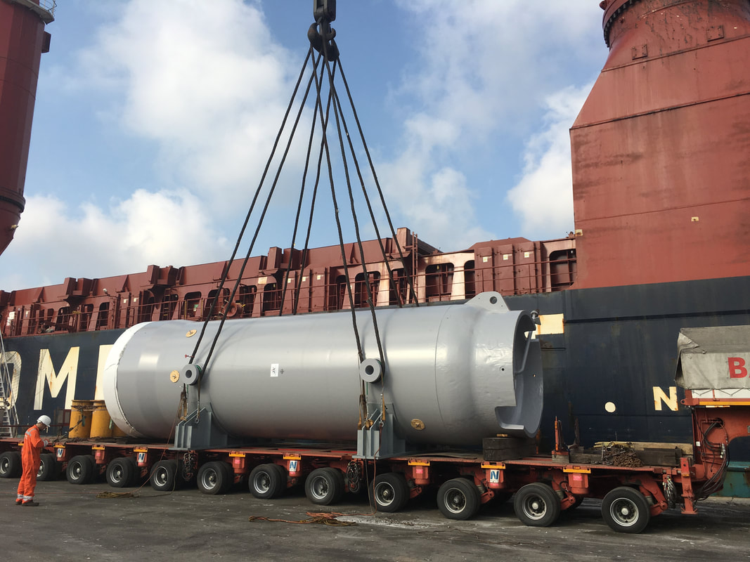 Refinery equipment delivery