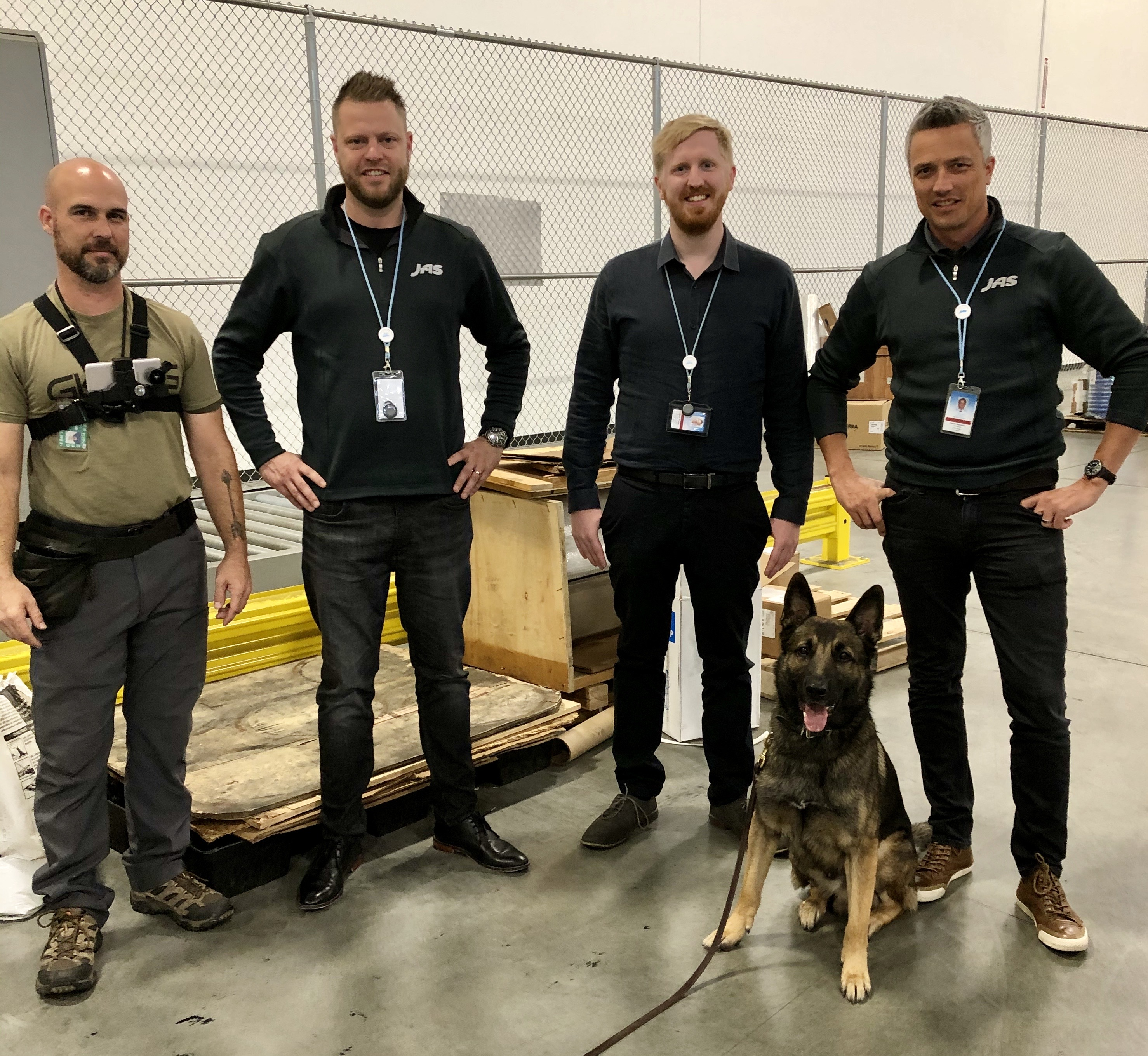 Pictured from left: GK9PG Group Handler, Jordy Romeijn (ORD Branch Manager), Jason Poulos (ORD Gateway Specialist), Patrik Gaehwiler (RVP MidWest).