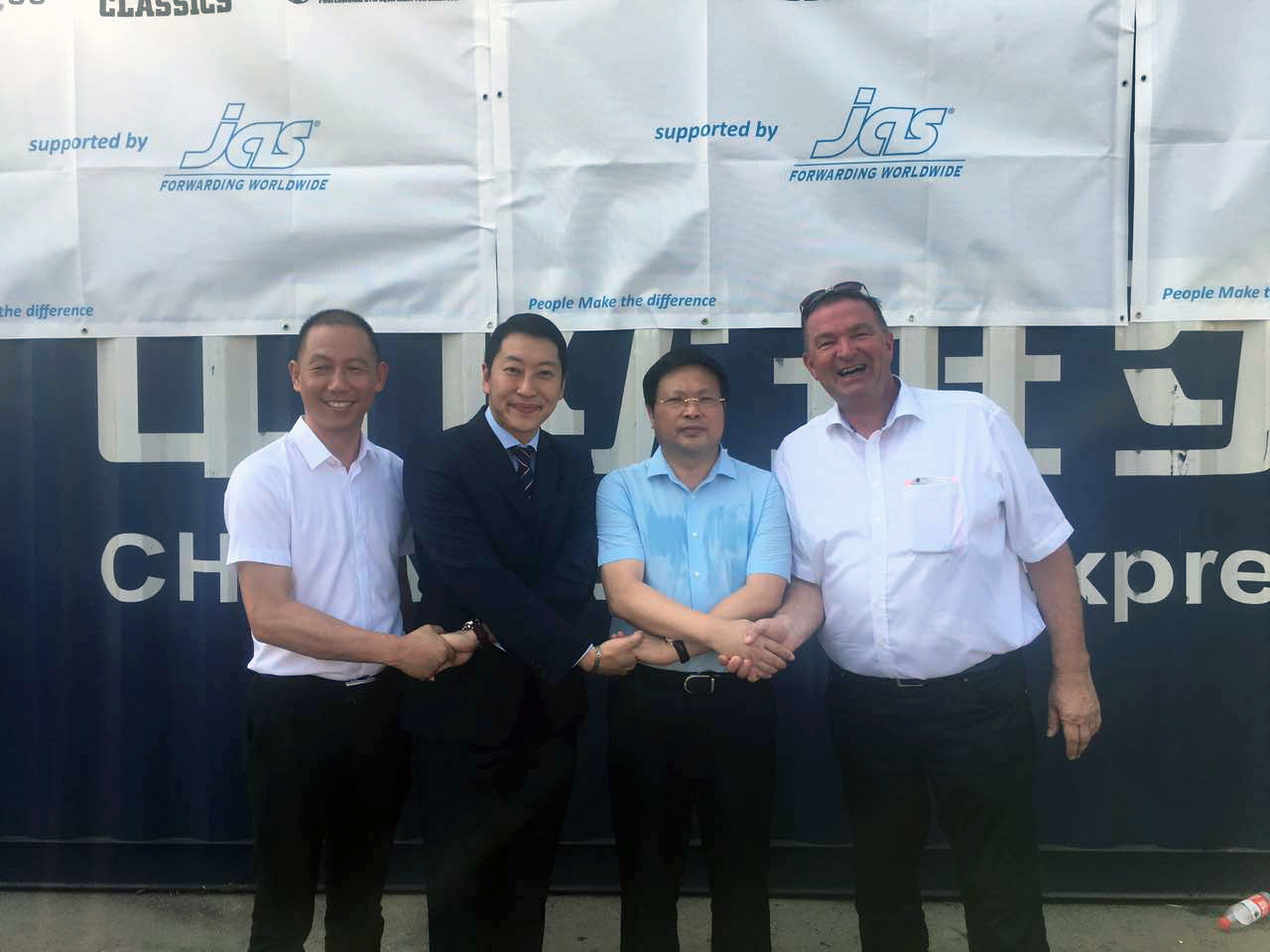 The attendees included Bruce Ning, General Manager of Northern and Central China, Kitty Yuen, Head of Ocean Freight (South China), Steven Su, Branch Manager (Xiamen), Tina Zhou, Branch Manager (Ningbo) and Bernd Scheunemann, BDM - Frankfurt (Germany).