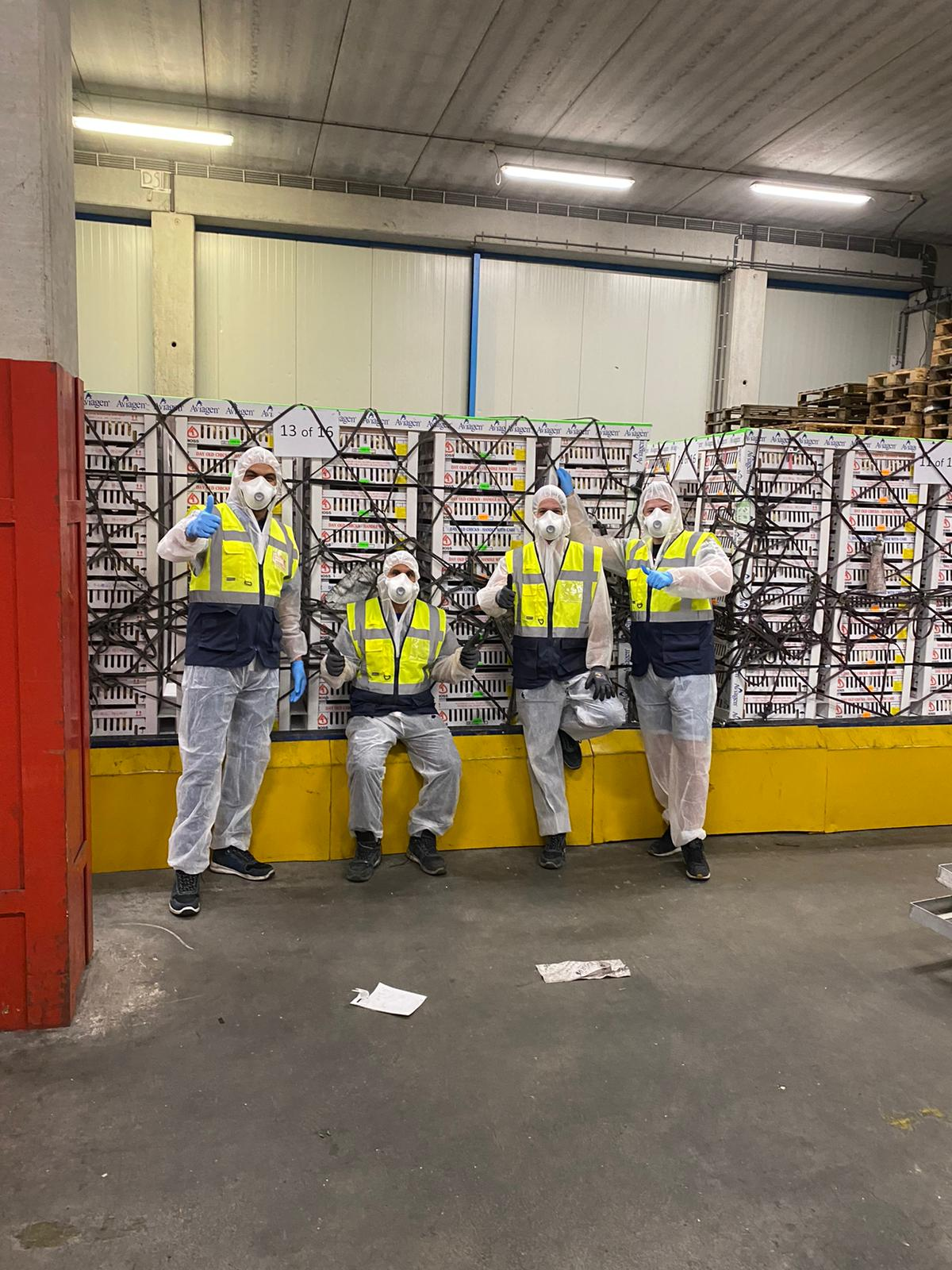 From left to right: Said Aharchaoui (Branch Manager Amsterdam), Mohamed Ahmitach (Warehouse Team Leader), Bas Kapaan (Logistics Supervisor), Niels Rijnbeek (Air Export Specialist)