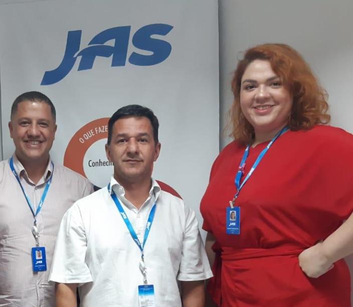 Pictured left to right : Julio Dorneles - Business Development Manager, Alfredo Rodrigues - Operations Supervisor, Luana Franceschi - Business Analyst