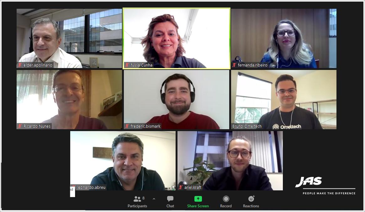 JAS leadership program virtual meeting
