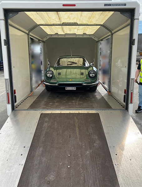 JAS hauls luxury vehicle for customer