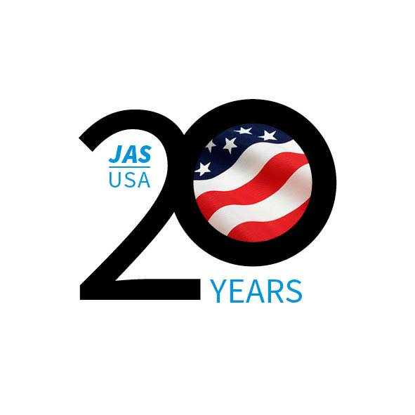 JAS USA 20th graphic