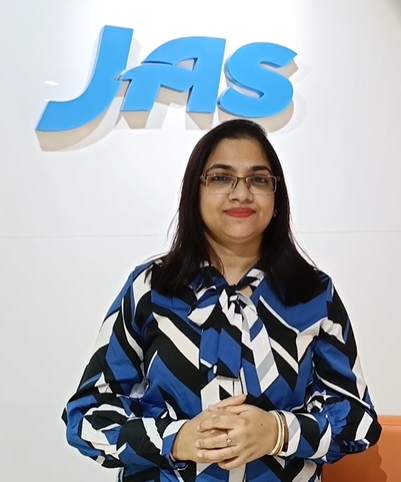 """""""Life is all about survival, we adapt, and we survive, so let us embrace change."""" Anisha Das, JAS India National Manager, Human Resources"""
