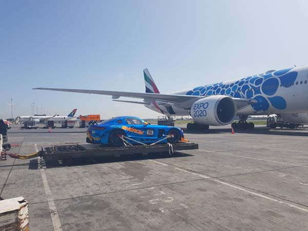 Racecar delivered by air