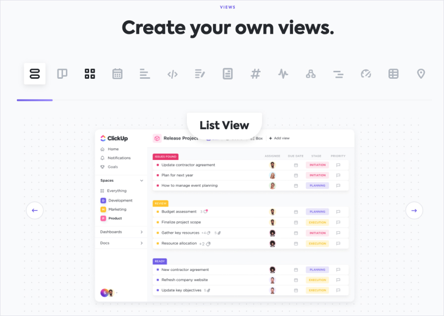 ClickUp Features Views 1