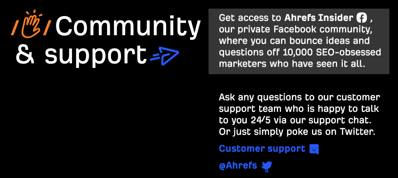 Ahrefs Support 1