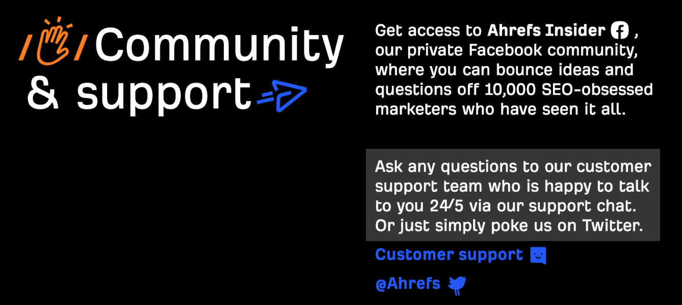 Ahrefs Support 2