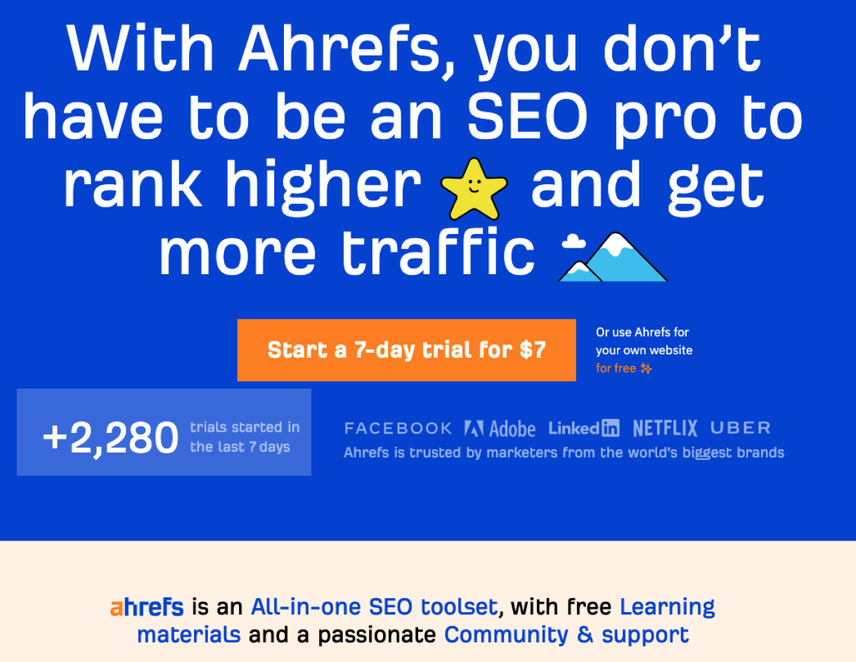 Ahrefs Social Proof 1