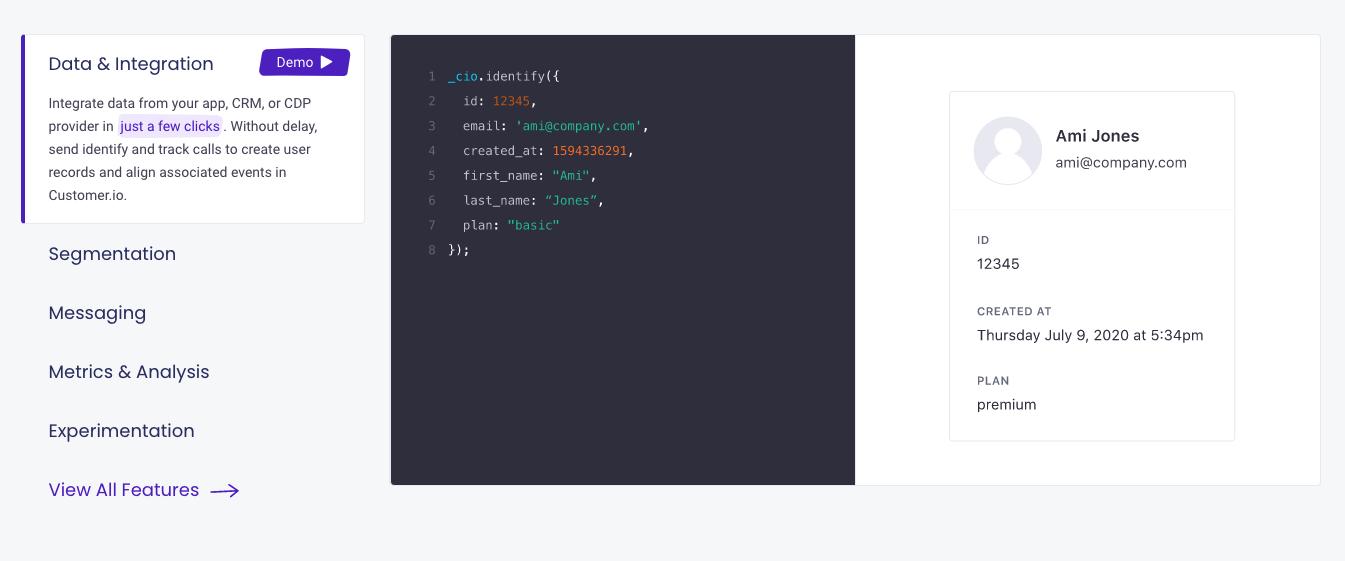 Customer.io Features 2.2