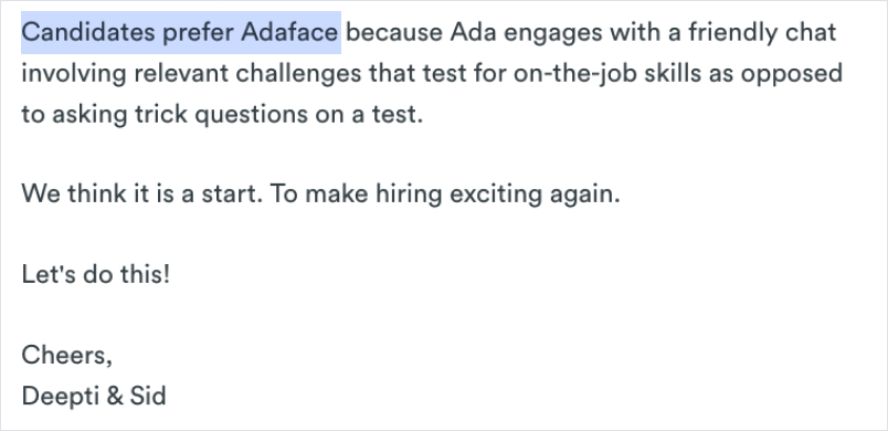 Adaface Founders Note 3