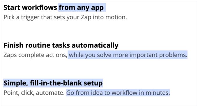 Zapier More Features 3