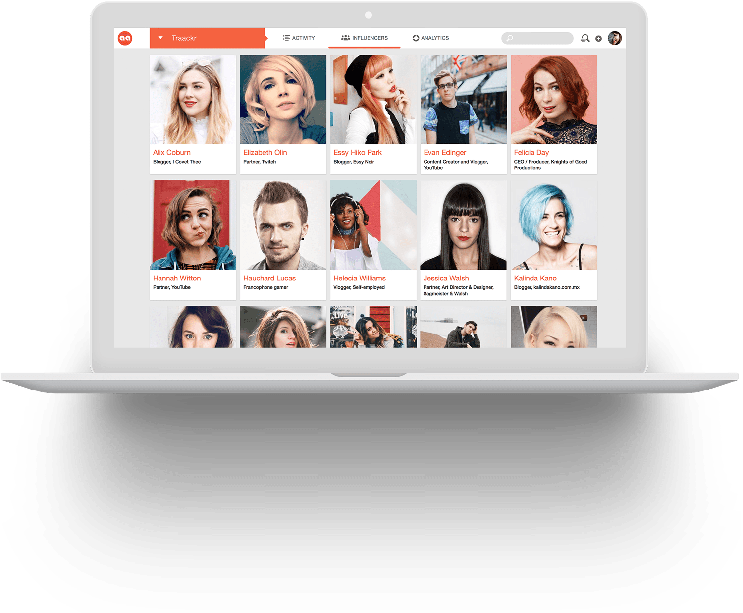 Level of engagement of your influencers on Traackr app - Manage your global influencer network