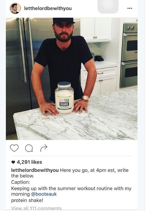 Scott Disick's Instagram Fail