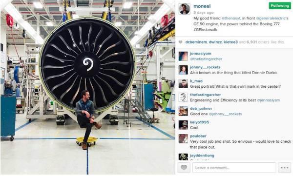 #GEInstaWalk Influencer Instagram post