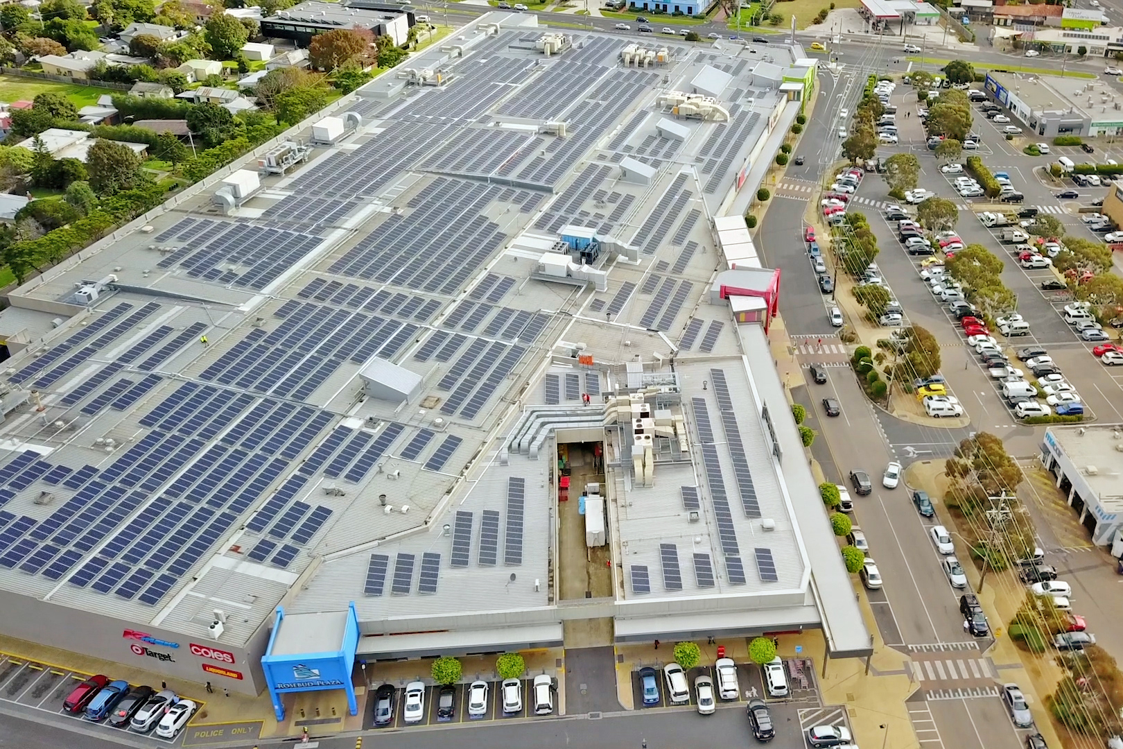 One of Victoria's biggest solar tilt array projects