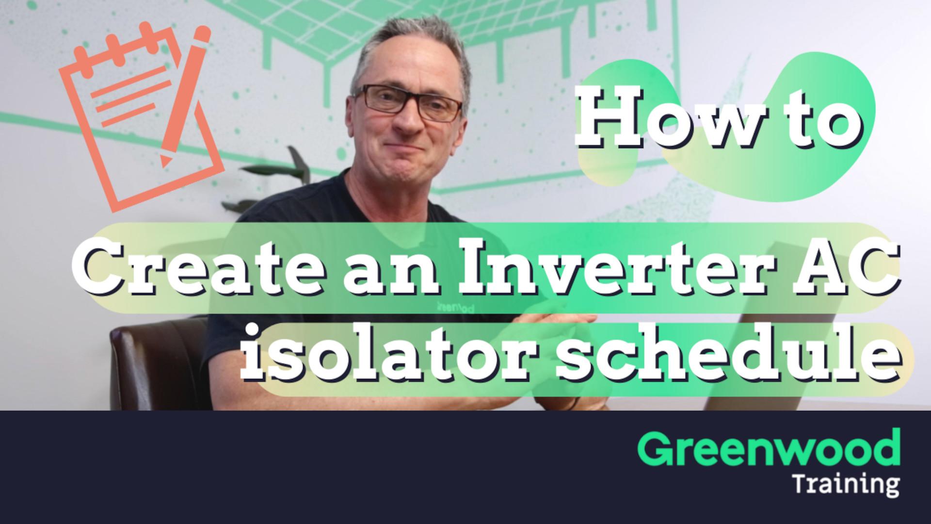 Secrets of Inverter AC isolator schedules