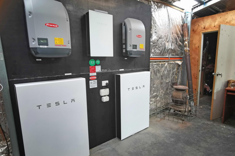 Tesla Powerwall 2 backup storage in the bush