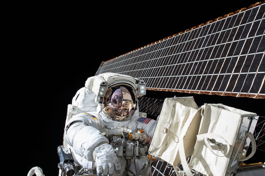Satellites, space and solar panels